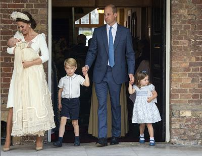 The royal family made their way into the Chapel Royal at St James\'s Palace in London.