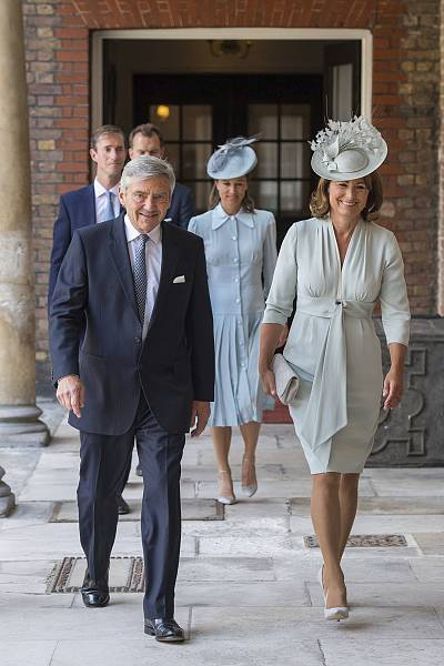 Pippa Middleton and her husband, James Matthews, attended the christening along with her and Kate\'s parents, Michael and Carole Middleton.