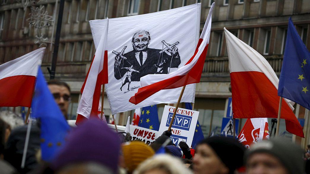 Débat européen sur les réformes controversées en Pologne