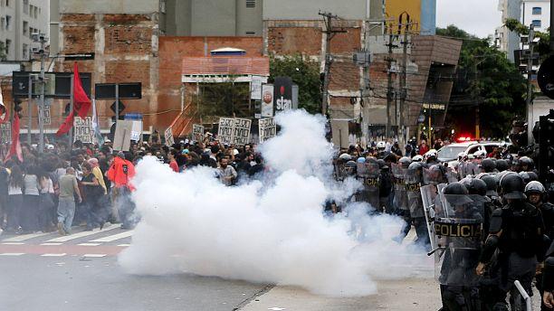 Protestas en Sao Paulo por la subida de los precios del transporte