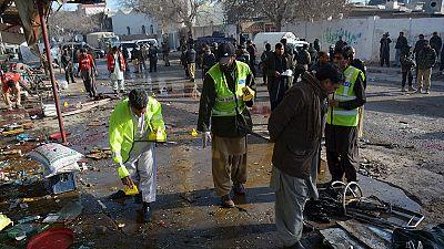 At least 14 dead in blast at Pakistan polio centre