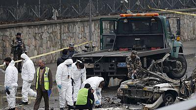 Afghan forces battle gunmen after suicide blast killing 2
