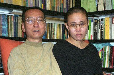 Liu Xiaobo (left) and his wife Liu Xia.