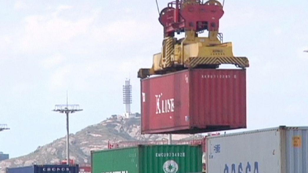 Commercio estero cinese, calo minore delle attese
