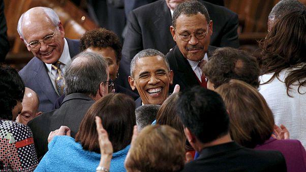 أوباما في الكونغرس لإلقاء خطابه الأخير حول الإتحاد
