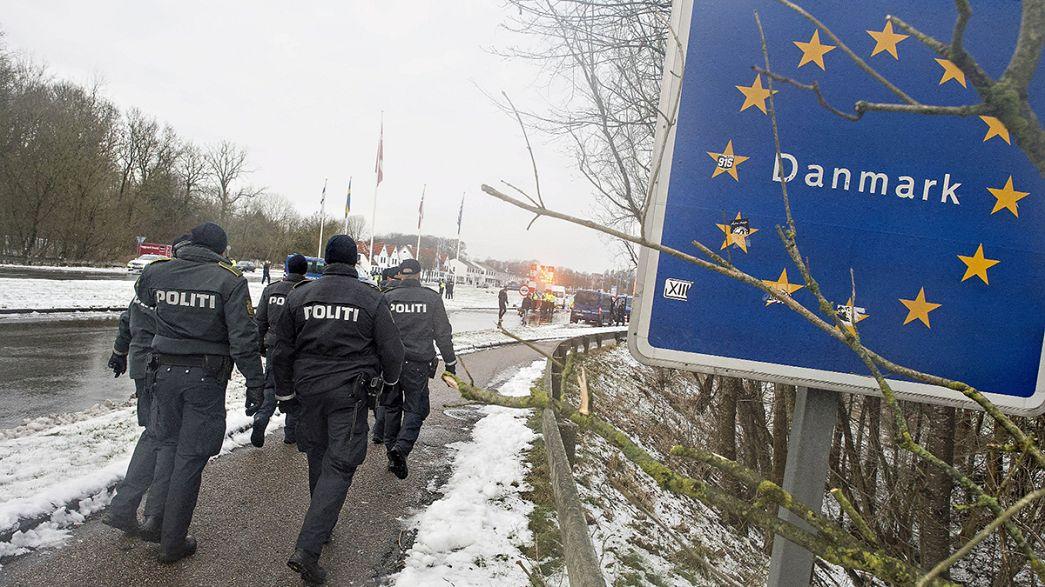 Dinamarca prolonga los controles fronterizos y debate sobre la confiscación de bienes a los refugiados
