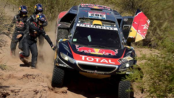 Peterhansel leads Dakar as former pacesetter Sainz pulls out