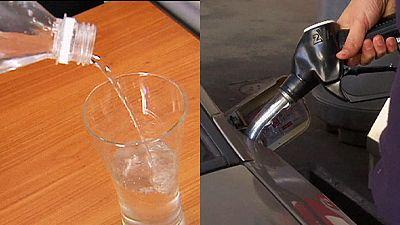 ¿Hacia un litro de gasolina más barato que uno de agua?