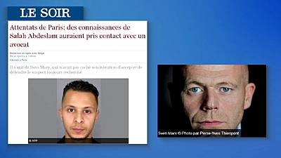 Salah Abdeslam podría haber contactado con un abogado de Bruselas