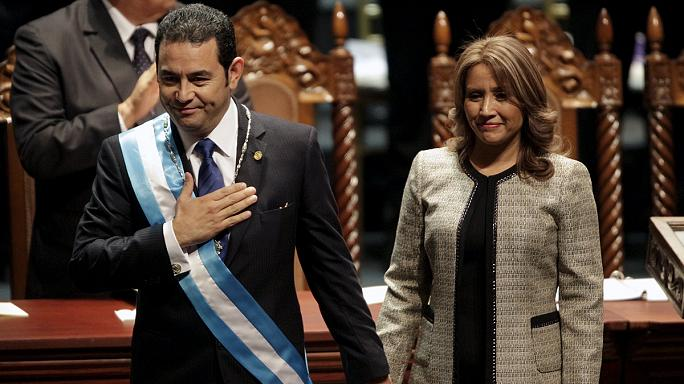 New president takes oath in Guatemala
