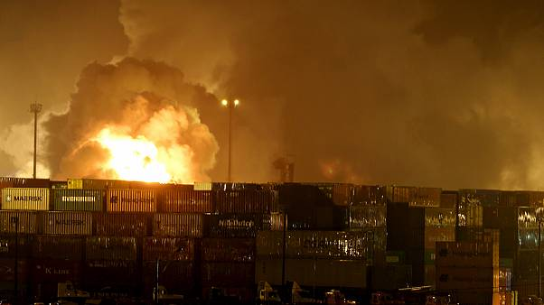 Brezilya'nın Santos Limanı'nda yangın