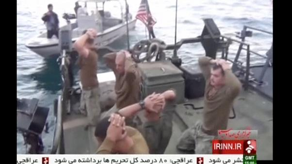 Images released of Iranian capture of US sailors
