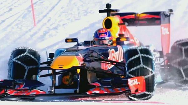 The first F1 showrun at an Alpine peak