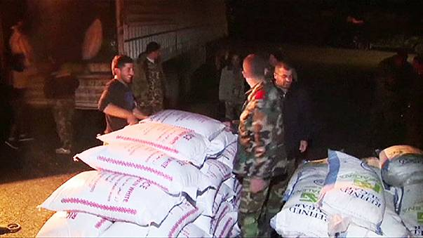 Rusya, Suriye'de rejim yanlılarına insani yardım gönderdi
