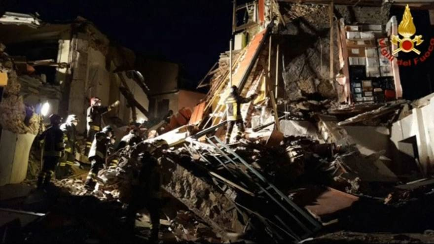 Gázrobbanás miatt összedőlt egy ház Olaszországban