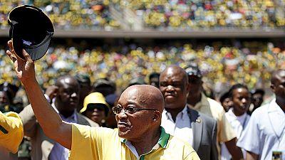 Une affiche appelle à la démission de Zuma au Cap