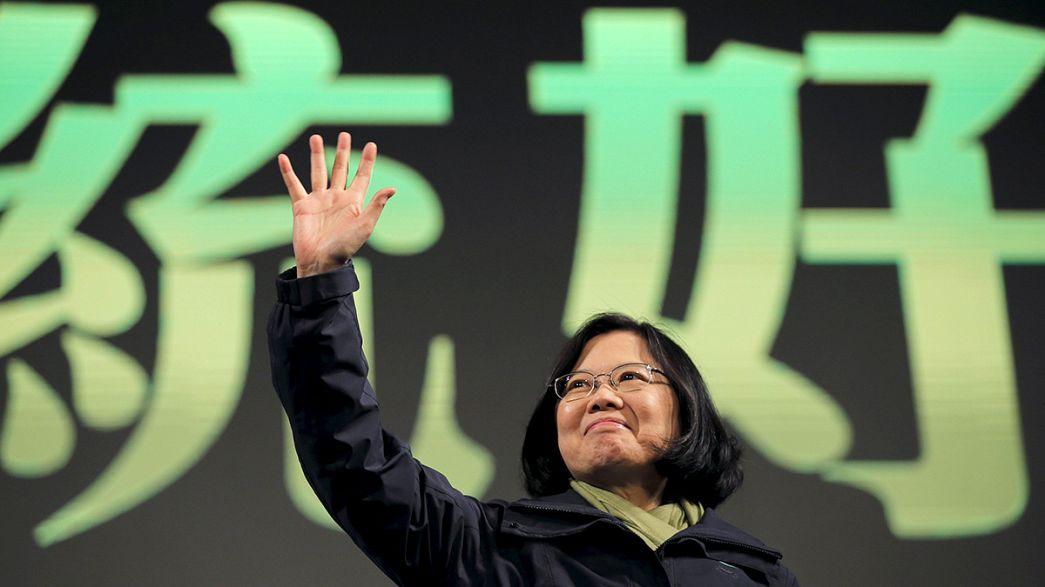 Nova presidente de Taiwan compromete-se a manter relações pacíficas com a China