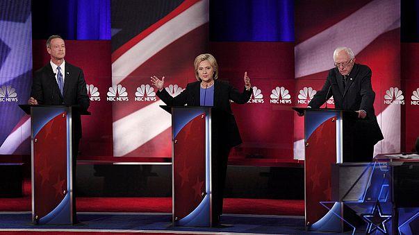 Clinton e Sanders em braço-de-ferro televisivo