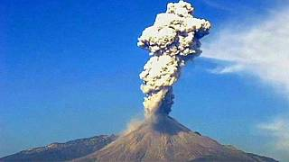 Mexique : éruption du volcan Colima