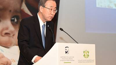 Ban Ki-Moon appeals for greater emergency to fund humanitarian aid