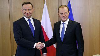 El presidente polaco llega a Bruselas tras las críticas al nuevo Gobierno