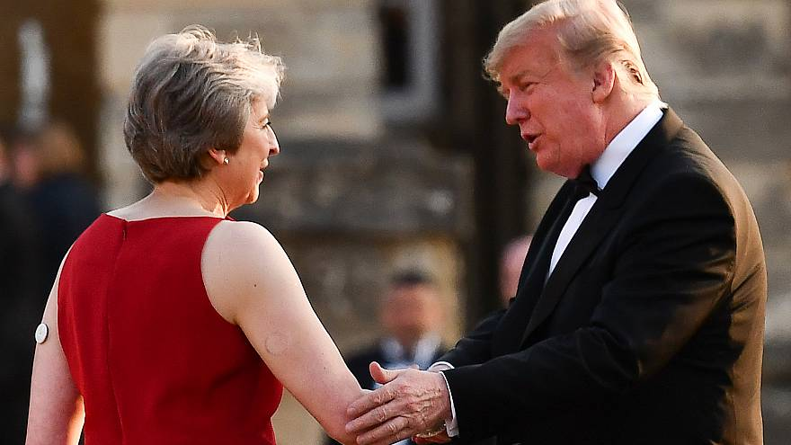 Image: Theresa May, Donald Trump