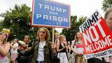 Image: Anti-Trump protesters in London