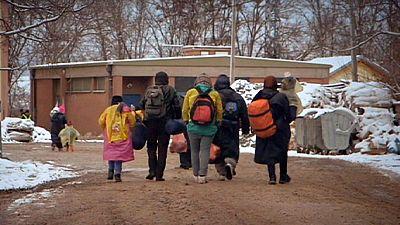 Crianças migrantes em risco face a anormal vaga de frio