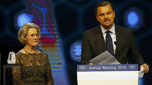 Davos World Economic Forum opens with DiCaprio