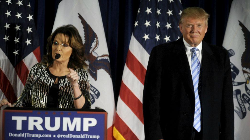 Presidenciais dos Estados Unidos: Sarah Palin apoia Donald Trump
