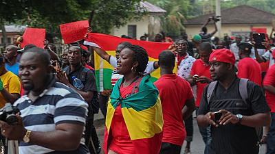 Protestations dans les rues d'Accra contre la hausse des prix du carburant