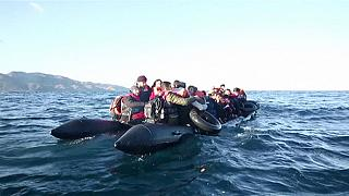 Greece: Lesbos refugees rescue