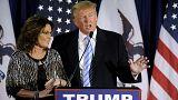 Sarah Palin soutient Donald Trump à la primaire républicaine