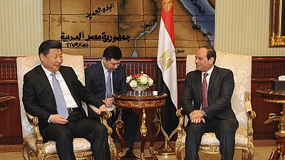 Chinese President Xi Jinping arrives in Egypt