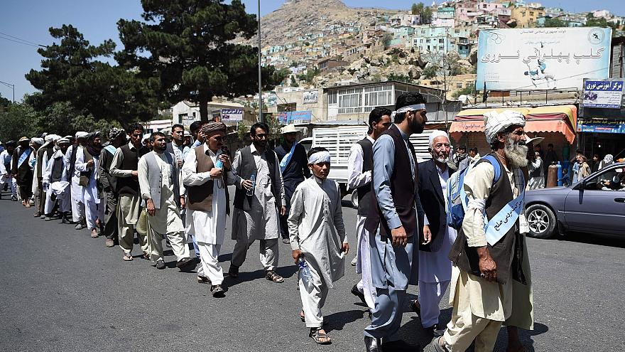 Image: Afghan peace march