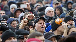 Folytatódtak a kormányellenes tüntetések Moldáviában
