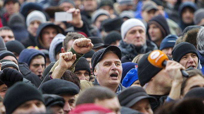Многотысячные акции протеста в Кишиневе