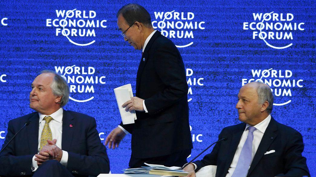 """Davos: Klimapolitik eine """"Frage von Krieg und Frieden"""""""