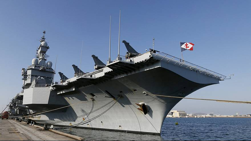 Charles De Gaulle aircraft carrier docks in UAE