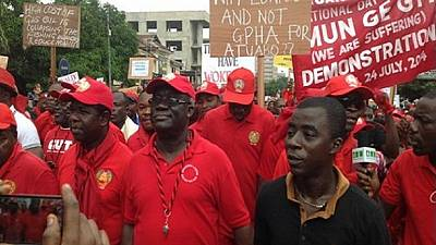 Ghana Labour Protest: Organised labour softens stance after meeting gov't