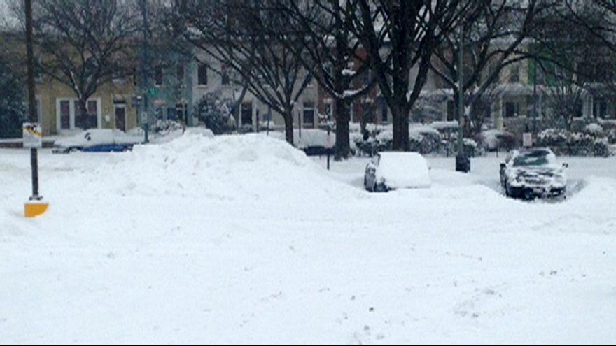 Stefan Grobe, snowbound, for Euronews in Washington