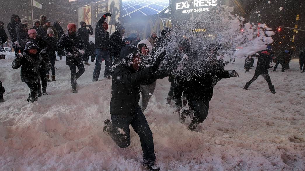 Снегопады в США: красиво, но страшно