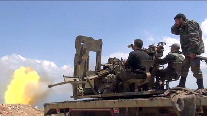 Előrenyomult a szír hadsereg