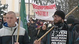برگزاری تظاهرات بر ضد پناهجویان در لهستان