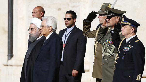 Il presidente iraniano Rohani a Roma per il primo viaggio ufficiale dopo la fine delle sanzioni