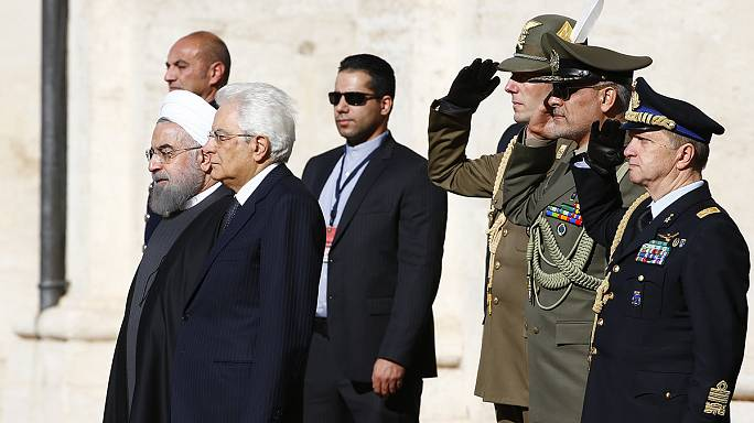 Le président iranien en Italie