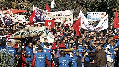 Tunisian police are protesting over salaries