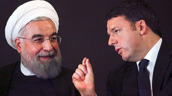 Irans Präsident Ruhani auf Einkaufstour in Italien