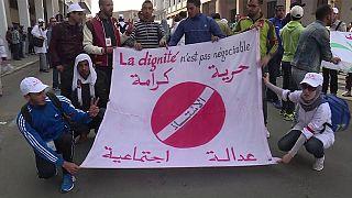 Morocco: Trainee-teachers protest in Rabat