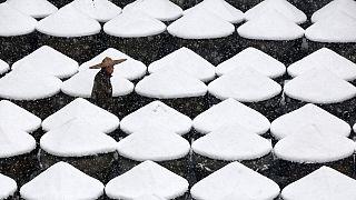 Азия замерзает